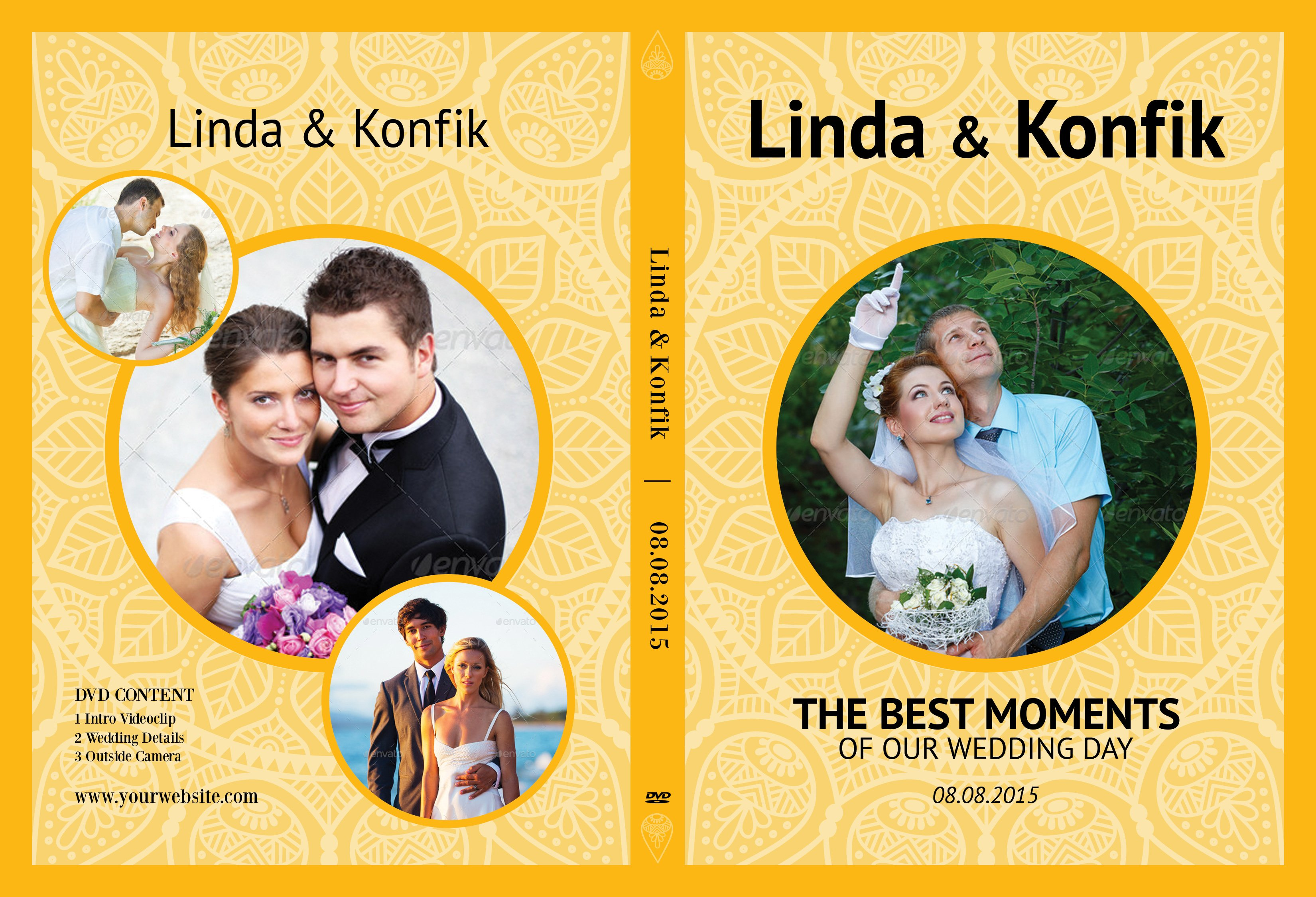 Wedding DVD Cover CD Label V07 Stationery Templates Creative Market