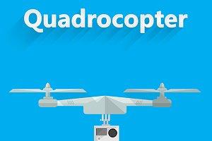 Quadrocopter flat vector illustratio