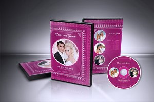 Wedding DVD Cover & CD Label v001