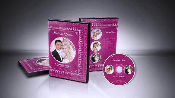 Wedding DVD Cover & CD Label v001
