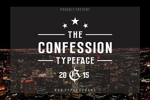 Confession typeface (introsale)