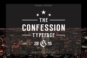 Confession typeface (introsale)