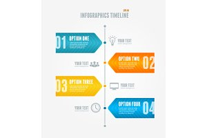 Timeline Infographic. Modern style.