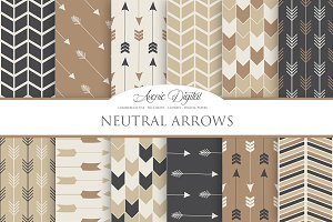 Neutral Arrows Digital Paper