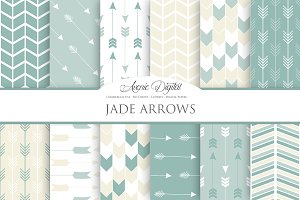 Jade Arrows Digital Paper