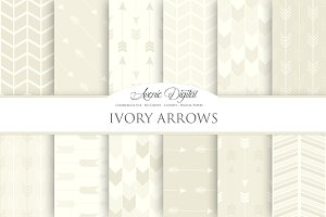 Ivory Arrows Digital Paper