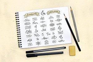 Doodle ampersands & catchwords