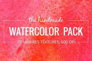 70 handmade Watercolor Textures pack