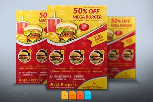 Flyer Mega Burger