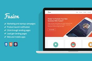 Fusion - Flat Marketing Template