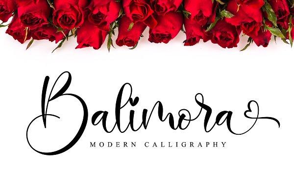 Balimora // Lovely Script Font