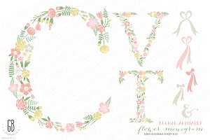 Flower monogram, floral type