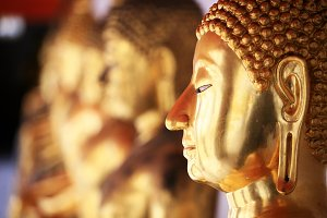 Gold Buddha Statue in Thailand