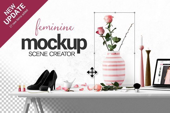 Feminine Scene Creator Product Mockups Creative Market