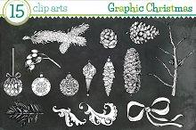 Graphic Christmas - 15 clip arts