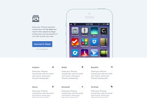 Six Rows - App Website (HTML/CSS)