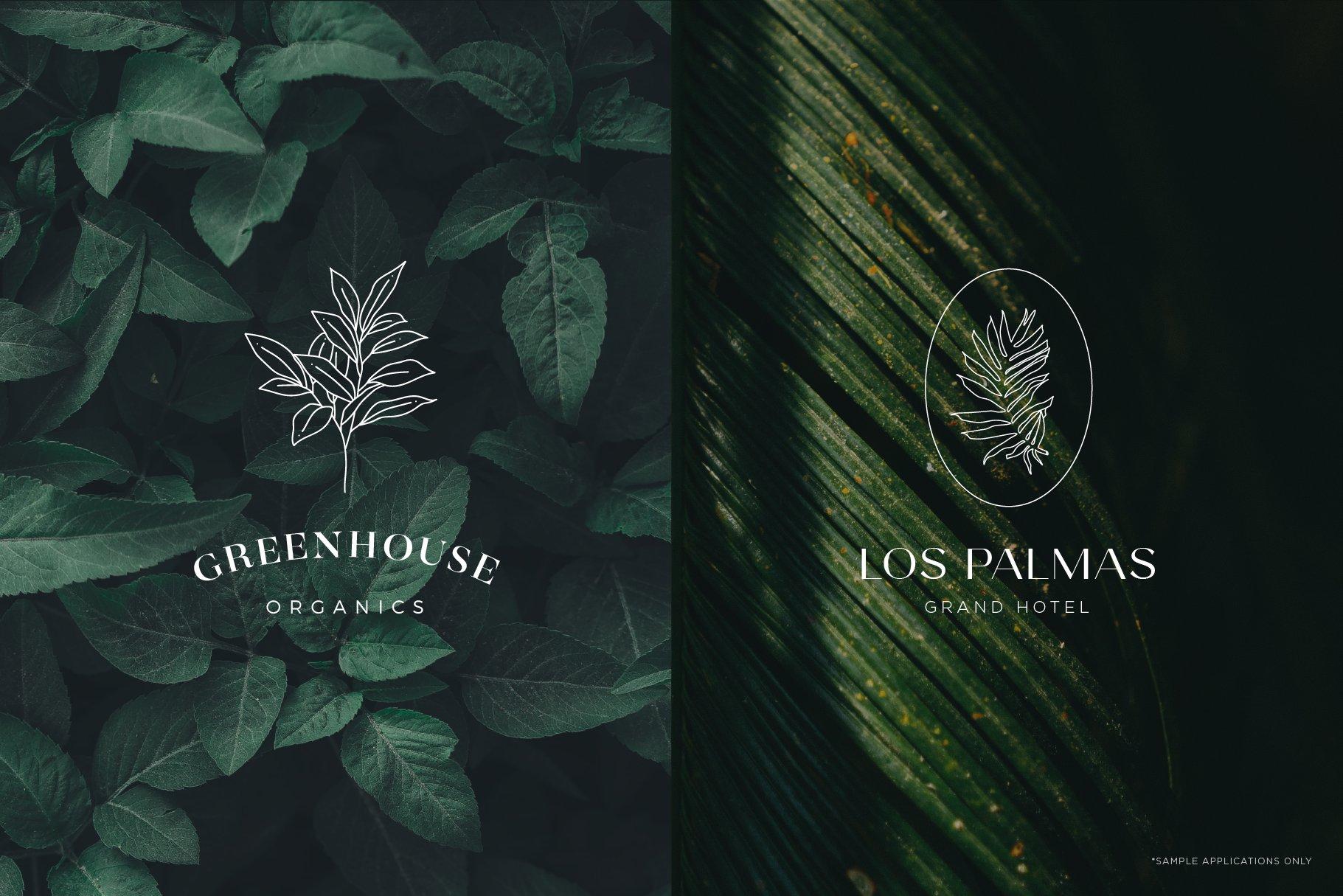 floral logo elements 56
