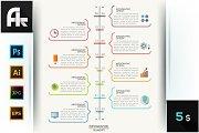 Infographic Speech Bubbles Timeline