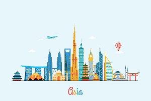 Asia skyline