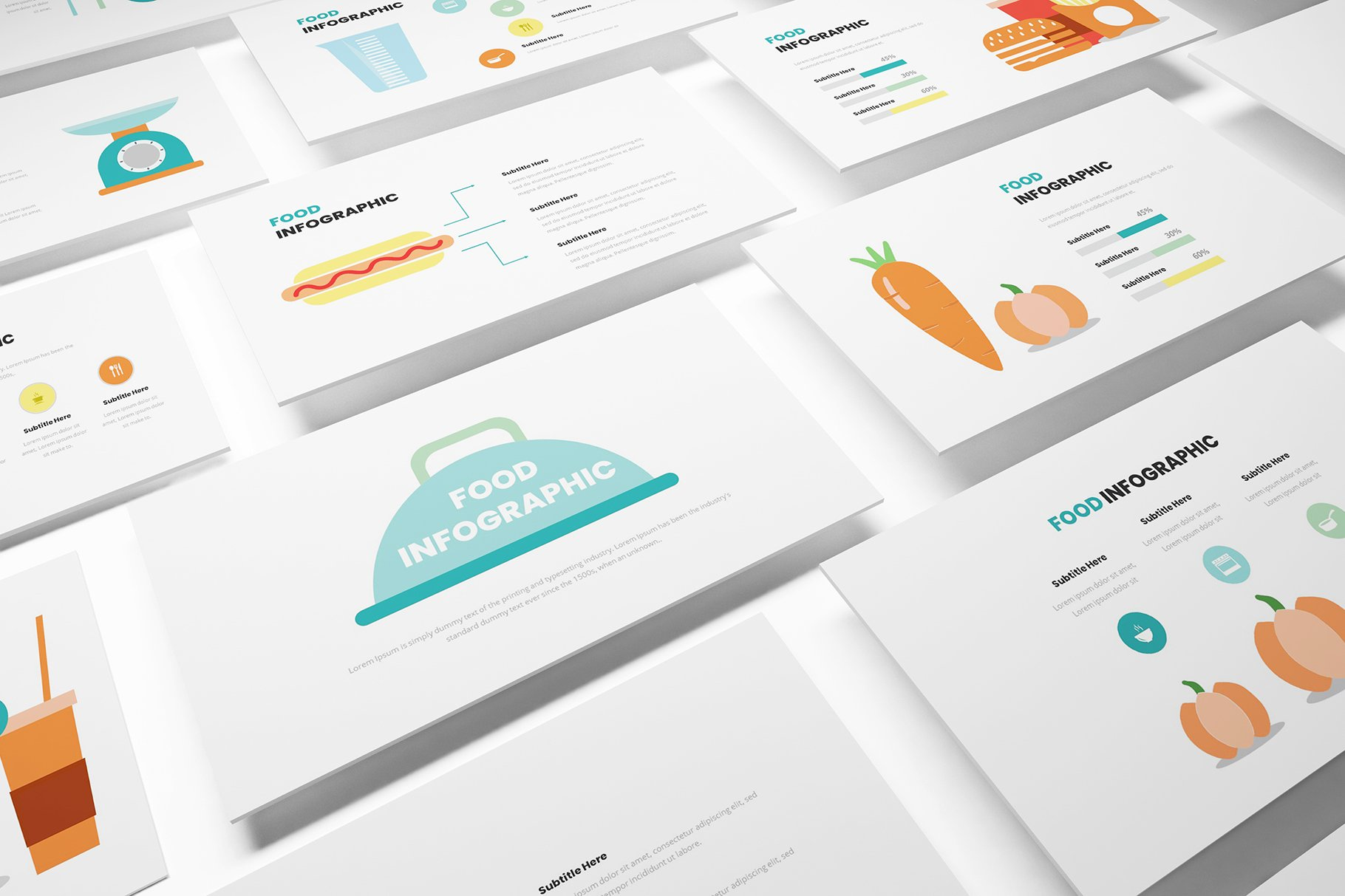Food Infographic Powerpoint Template Creative Powerpoint Templates Creative Market
