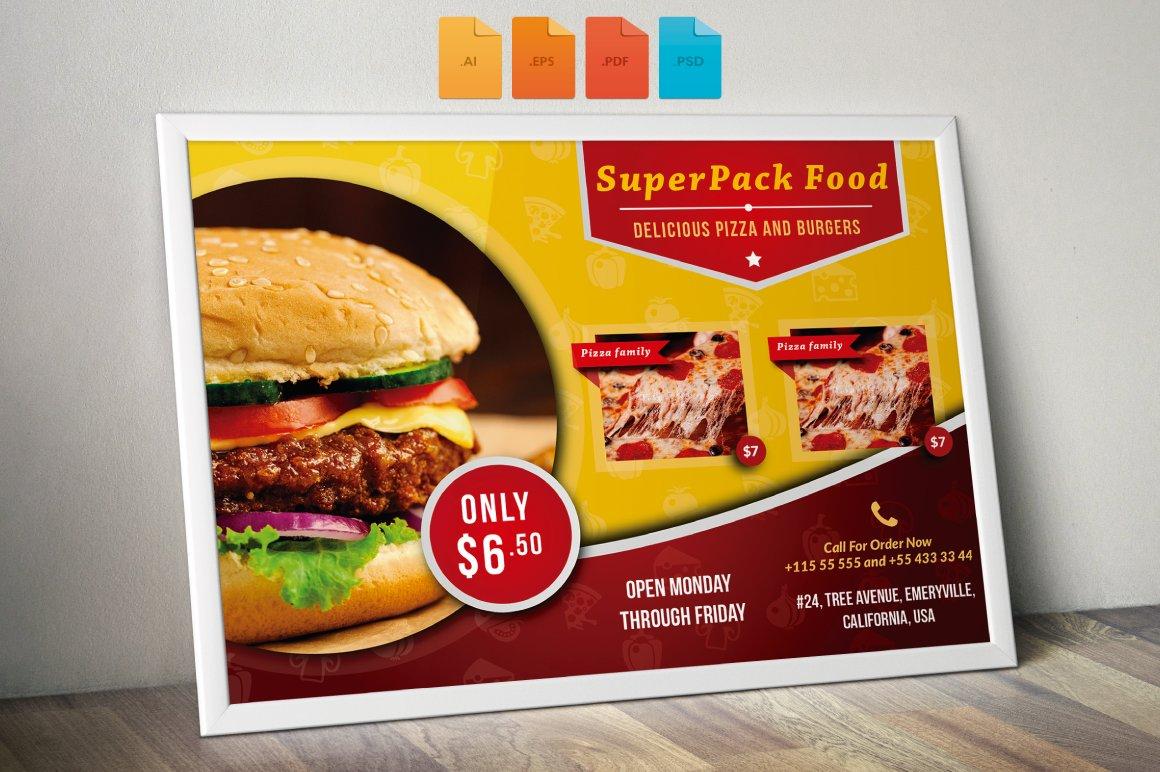 Flyer Fast Food Horizontal ~ Flyer Templates ~ Creative Market