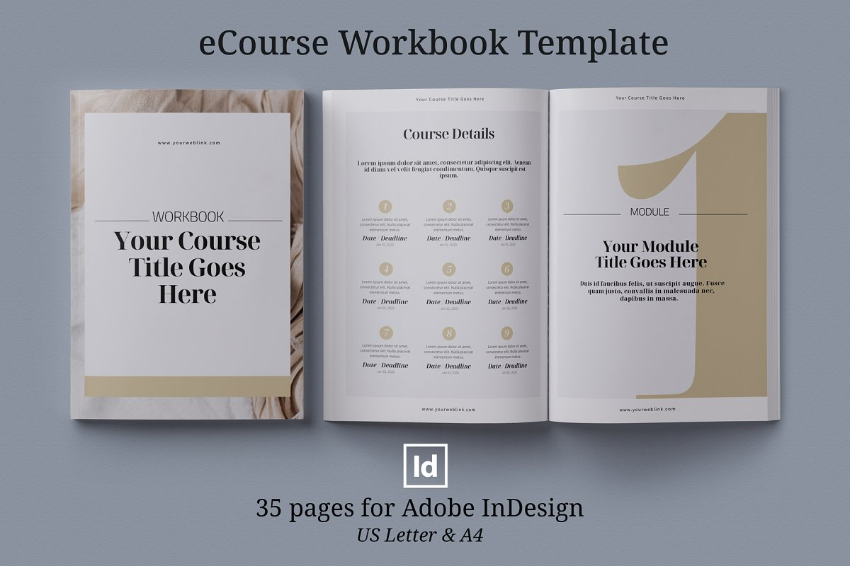 eCourse Workbook InDesign template in Magazine Templates - product preview 8