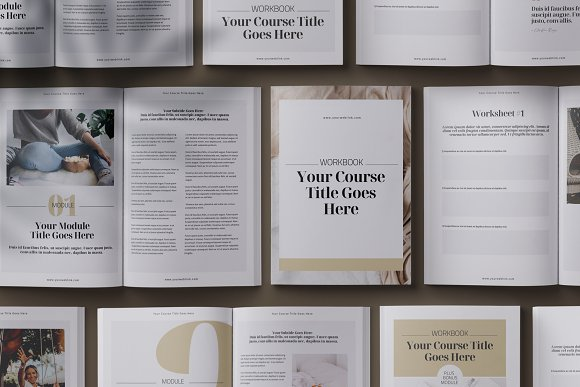 eCourse Workbook InDesign template in Magazine Templates - product preview 1