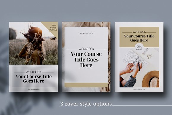 eCourse Workbook InDesign template in Magazine Templates - product preview 2