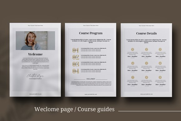 eCourse Workbook InDesign template in Magazine Templates - product preview 3