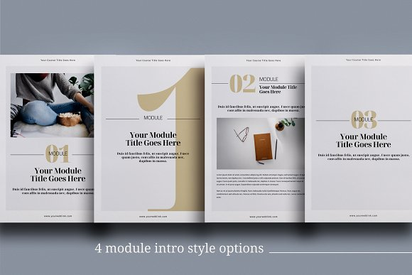 eCourse Workbook InDesign template in Magazine Templates - product preview 4