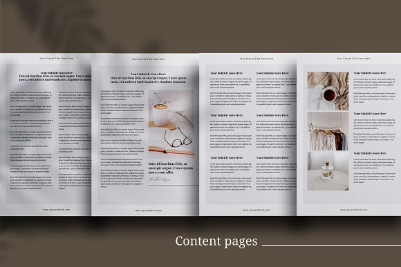 eCourse Workbook InDesign template in Magazine Templates - product preview 5
