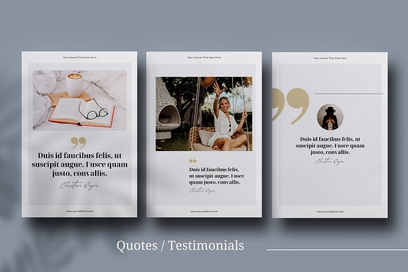 eCourse Workbook InDesign template in Magazine Templates - product preview 9