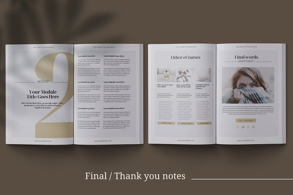 eCourse Workbook InDesign template in Magazine Templates - product preview 10