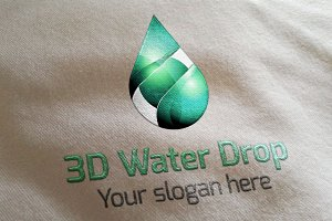 3D Water Drop Logo