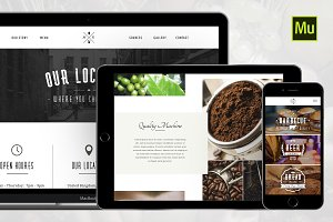 Restaurant PSD & Muse Template