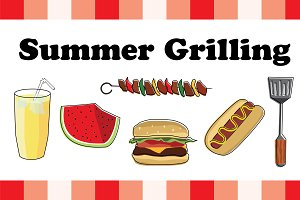 Summer Grilling Vector Pack