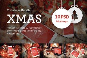 10 PSD XMAS Mockup