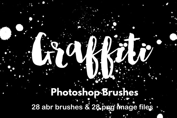 Paint splatter photoshop brush set