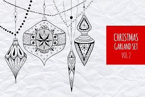 Christmas garland set vol.2