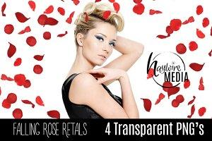 4 PNG Romantic Falling Rose Petals
