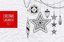 Christmas garland set vol.3