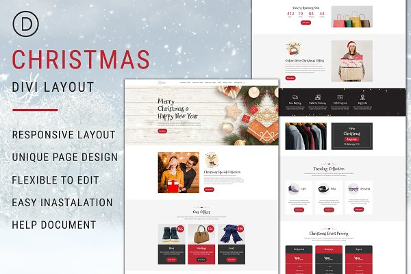 Christmas – Divi Theme Layout