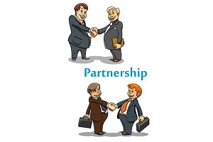 Businessman handshake and partnershi