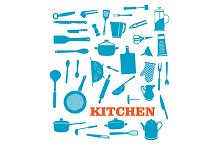 Kitchenware objects set