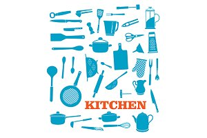 Kitchenware objects set