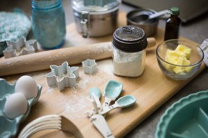 Holiday Baking Ingredients & Prep