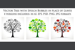 Vector Speech Bubble Trees