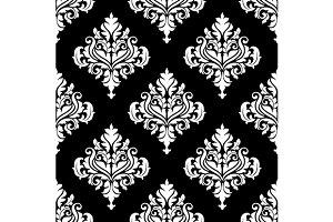 Retro white damask seamless pattern