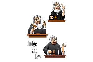 Cartoon judge characters