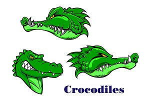 Cartoon crocodile and alligators cha